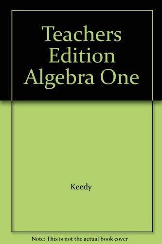 9780201103069: Teachers Edition Algebra One
