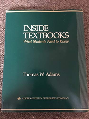 9780201106992: Inside Textbooks: What Students Need to Know