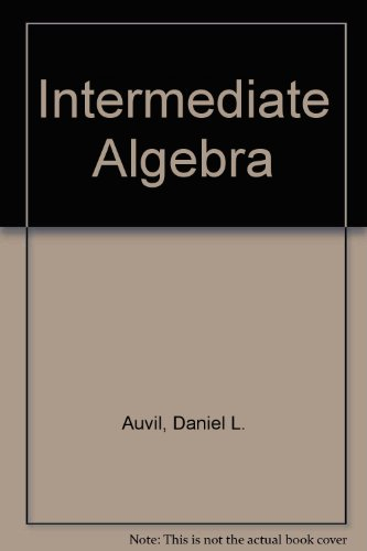 9780201110463: Intermediate Algebra
