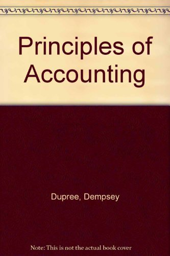 9780201113334: Principles of Accounting