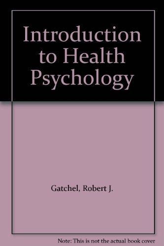 9780201113600: Introduction to Health Psychology