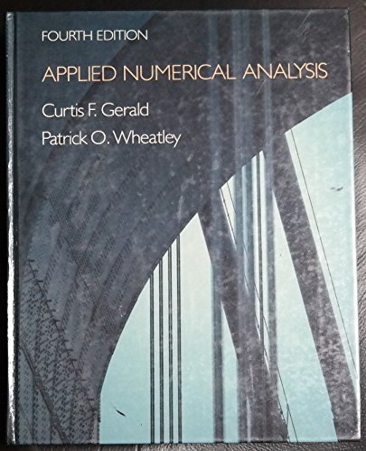 9780201115833: Applied Numerical Analysis