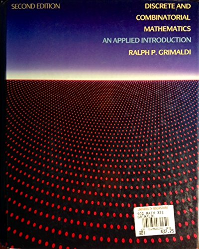 9780201119541: Discrete And Combinatorial Mathematics: An Applied Introduction