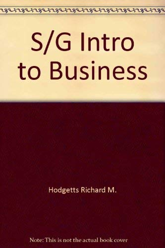 Introduction to Business: Richard M. Hodgetts