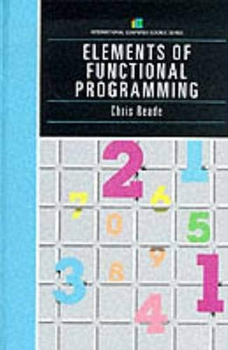 9780201129151: Elements Of Functional Programming (International Computer Science Series)