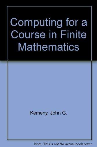9780201134346: Computing for a Course in Finite Mathematics