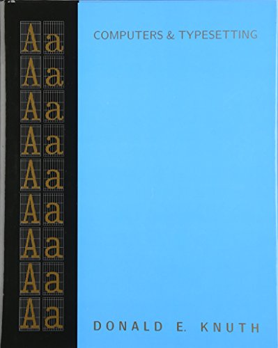 9780201134476: Computers & Typesetting, Volume A: The TeXbook