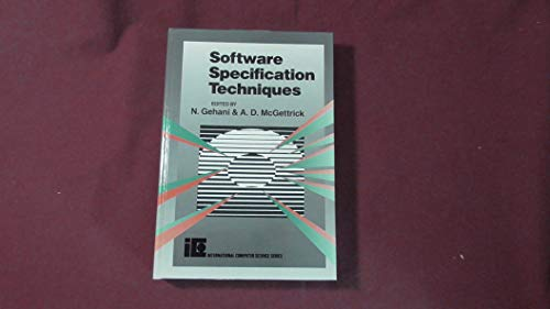 9780201142303: Software Specification Techniques (International Computer Science)