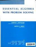 Essential Algebra With Problem Solving: Marvin L. Bittinger,