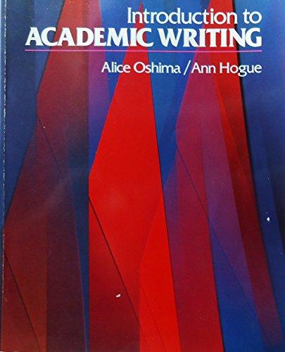 9780201145076: Introduction to Academic Writing (Longman Academic Writing Series)