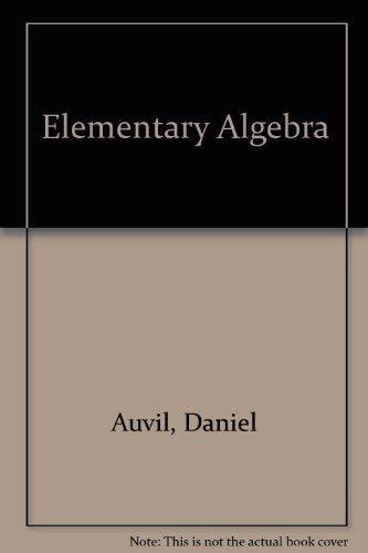 9780201149852: Elementary Algebra