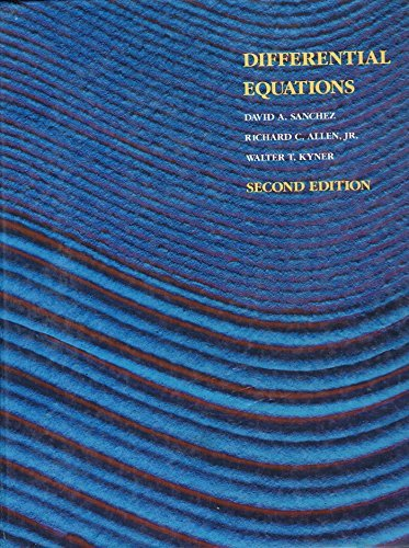 9780201154078: Differential Equations