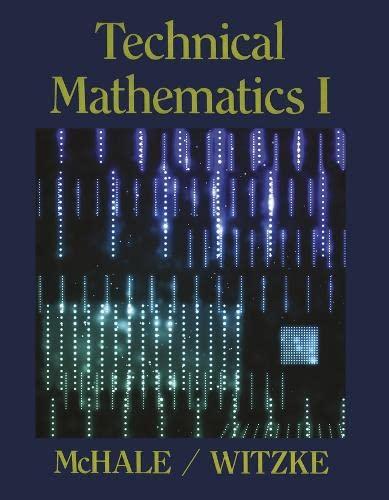 9780201154085: Technical Mathematics I (v. 1)