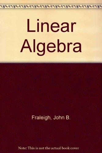 9780201154597: Linear Algebra