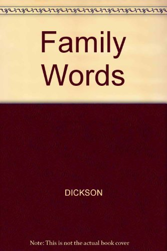 9780201155938: Family Words: The Dictionary for People Who Don't Know a Frone from a Brinkle