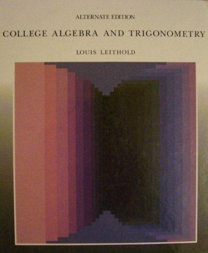 9780201157406: College Algebra and Trigonometry