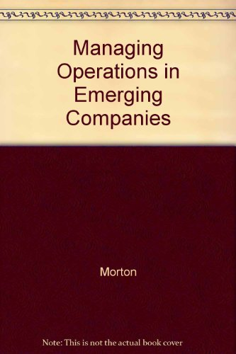 Managing Operations Emerging Companies