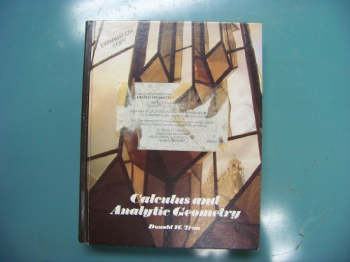 9780201162707: Calculus and Analytic Geometry