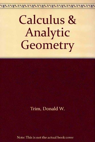 9780201162721: Calculus & Analytic Geometry