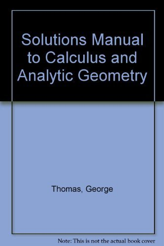 calculus by thomas finney 7th edition solution manual