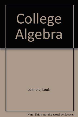 9780201170511: College Algebra