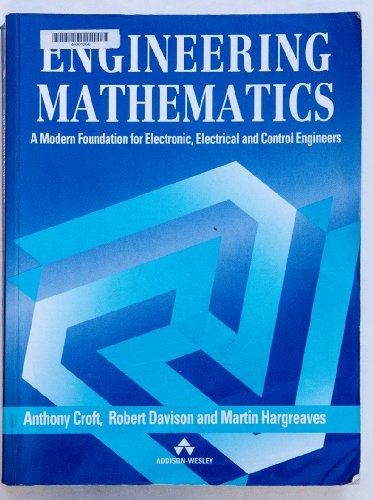 Engineering Mathematics: A Modern Foundation for Electronic,: Hargreaves, Martin, Davison,