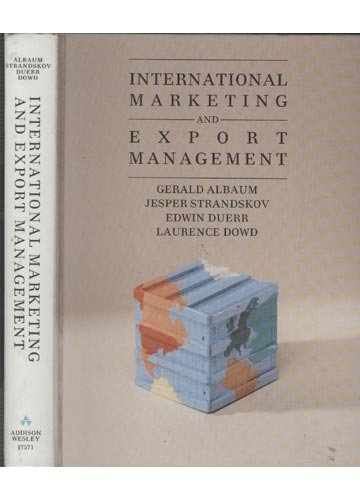 9780201175714: International Marketing and Export Management