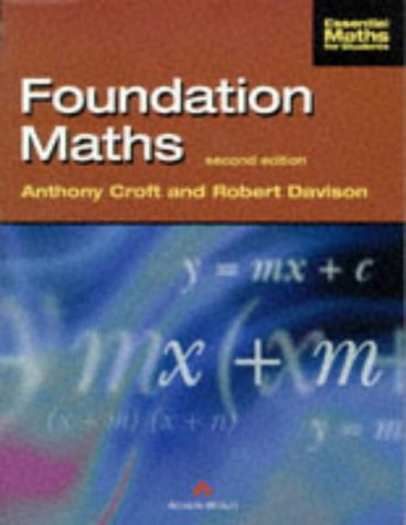 Foundation Maths Croft Davison Pdf