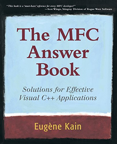 9780201185379: The MFC Answer Book: Solutions for Effective Visual C++ Applications