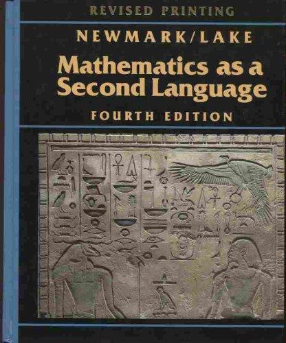 9780201192971: Mathematics As a Second Language