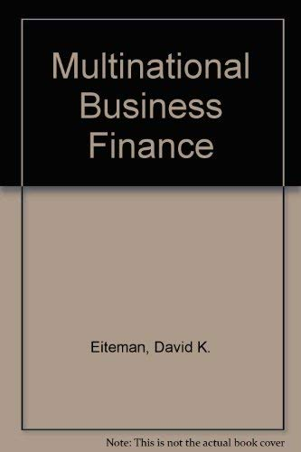 9780201193275: Multinational Business Finance
