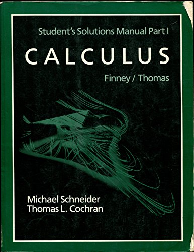9780201193459: Calculus: Solution Manual Pt. 1