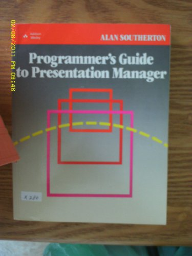9780201194401: Programmer's Guide to Presentation Manager