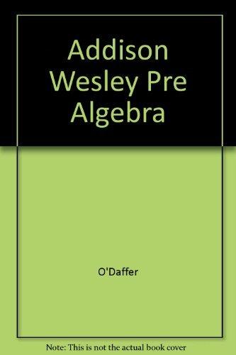 9780201204803: Addison Wesley Pre Algebra