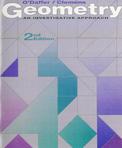 9780201217957: Geometry: An Investigative Approach (2nd Edition)