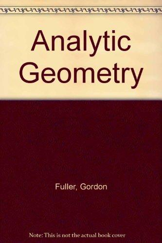 9780201222296: Analytic Geometry