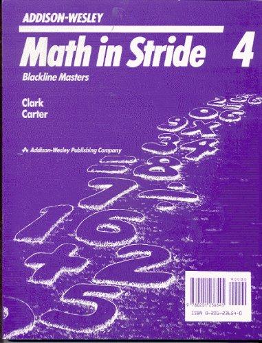 Math in Stride 4 Blackline Masters (Addison: Addison-Wesley