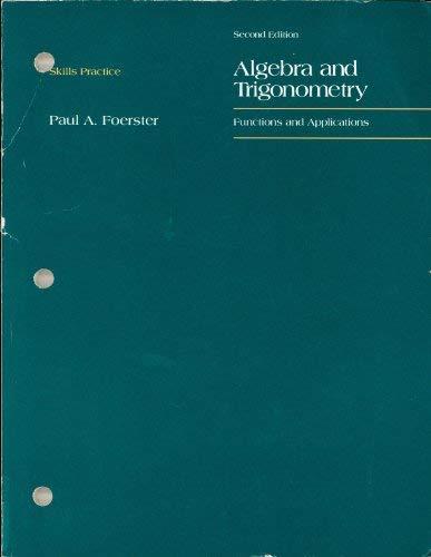 9780201253825: FOERSTER ALGEBRA AND TRIGONOMETRY SKILLS PRACTICE