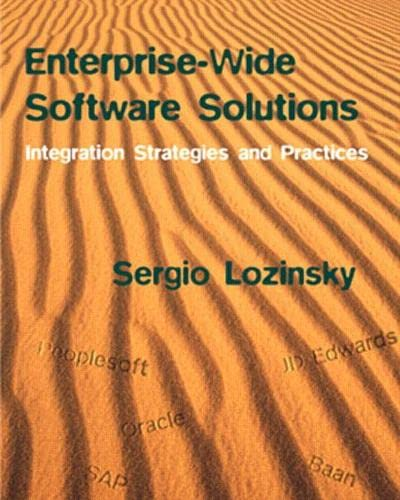 9780201309713: Enterprise-Wide Software Solutions: Integration Strategies and Practices