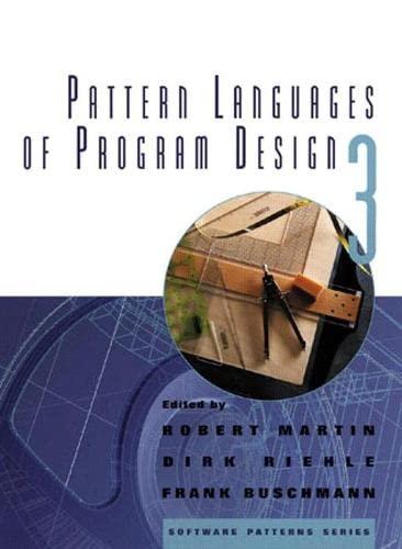 9780201310115: Pattern Languages of Program Design 3: v. 3 (Software Patterns Series)