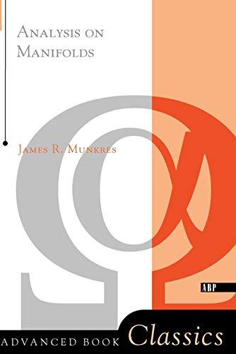 9780201315967: Analysis On Manifolds (on Demand Of 51503) (Advanced Books Classics)