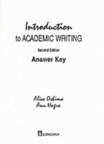 9780201316964: Introduction to Academic Writing: Answer Key