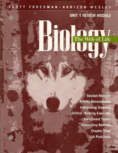 Biology: The Web of Life, Unit 1: none listed
