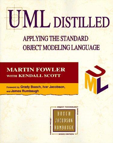 UML DISTILLED: APPLYING THE STANDARD OBJECT MODELLING: MARTIN FOWLER, KENDALL