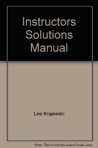 Operations Management: Strategy And Analysis 5th Ed,: Lee Krajewski