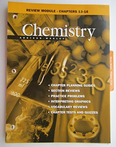 9780201334494: Review Module - Chapters 13 - 16 (Chemistry)