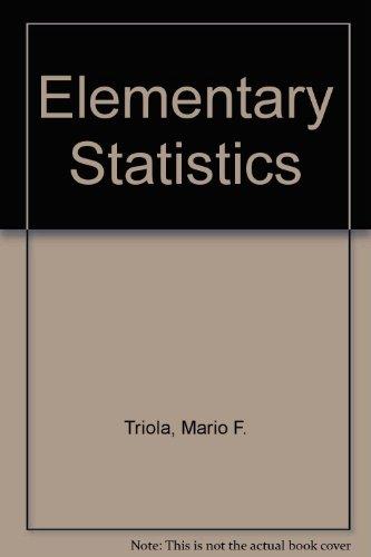 9780201335859: Elementary Statistics