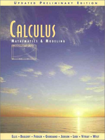9780201338607: Calculus: Mathematics and Modeling