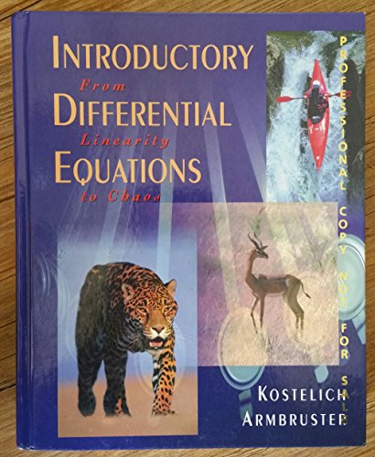 9780201338669: Introductory Differential Equations
