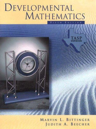 9780201340280: Developmental Mathematics TEXAS TASP Version